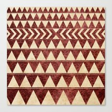 Vintage Material Triangles Canvas Print