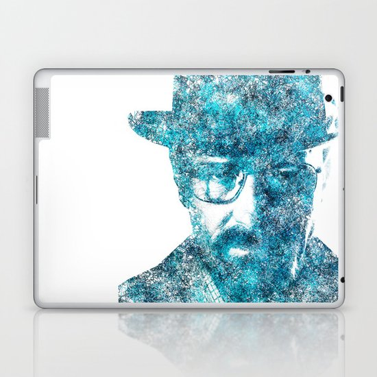 Walter White made of SkyBlue. Breaking Bad returns TONIGHT!!! Laptop & iPad Skin