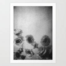 Falling Flowers Variation I Art Print