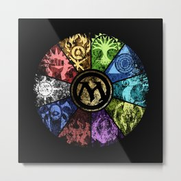 Magic the Gathering - Faded Guild Wheel Metal Print