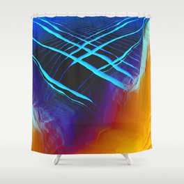 Glitch Land Shower Curtain