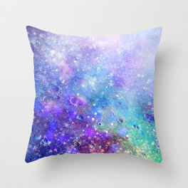 Colorful Deep Space Background Throw Pillow