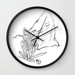 Hyacinth and a rock Wall Clock