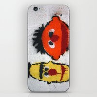 sesame street iPhone & iPod Skins featuring Bert and Ernie, Sesame Street, Graffiti by 8daysOfTreasures