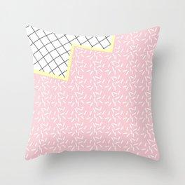 MEMPHIS PINK Throw Pillow