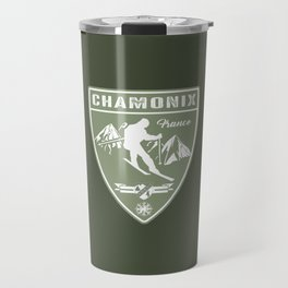 Ski Chamonix France Travel Mug