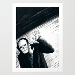 A Stupid Mask Is Not Going To Make You Invincible, Dude Art Print