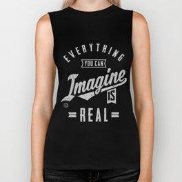 Imagine is Real - Motivation Biker Tank