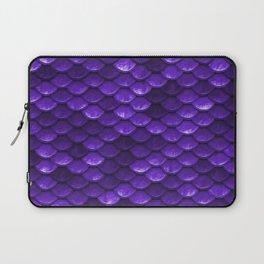 Beautiful grape purple mermaid fish Scales Laptop Sleeve