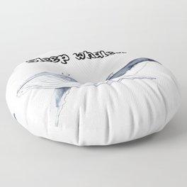 Sleep whale Floor Pillow