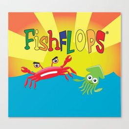 FishFlops Pinchie and Squirts Canvas Print