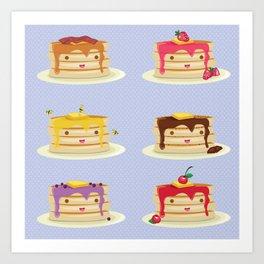 Pancakes lover Art Print