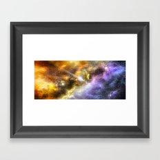 Space colours Framed Art Print