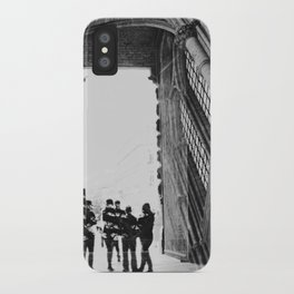 black and white cathedral iPhone Case