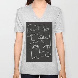 Abstract line art 12/2 Unisex V-Neck