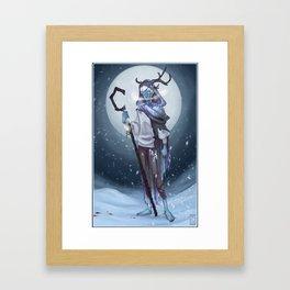 Wendigo Among The Snow Framed Art Print