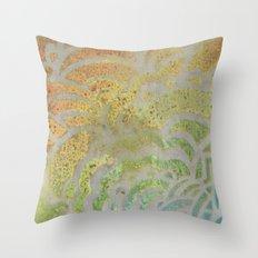 Drawing Meditation: Stencil 1 - Print 7 Throw Pillow