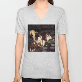 Hylas and the Nymphs,  John William Waterhouse Unisex V-Neck