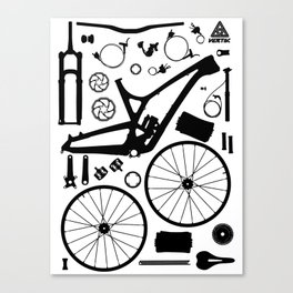 Bike Parts - Evil Canvas Print