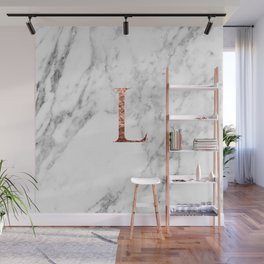 Monogram rose gold marble L Wall Mural
