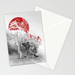 The warrior and the wind Stationery Cards