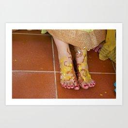 Mehndi Henna Before Wedding Art Print