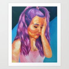 hues of purple Art Print
