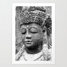 Buddha BW Art Print