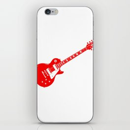 Red Electric Guitar iPhone Skin