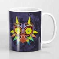 majoras mask Mugs featuring Majora's Mask Splatter by Greytel