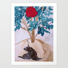The Nightingale and the Rose, Oscar Wilde Art Print