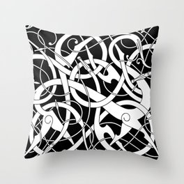 Urnes Style Ornament IV Throw Pillow