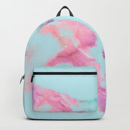 Blue Iridescent Vein Marble Backpack