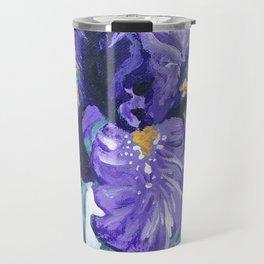 Purple Bearded Iris Travel Mug