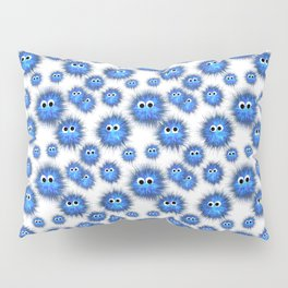Little blue monsters Pillow Sham