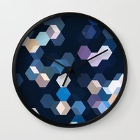 honeycomb Wall Clocks featuring HONEYCOMB by ED design for fun