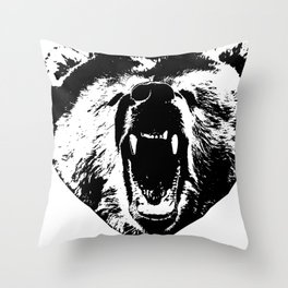 Bear Face Throw Pillow
