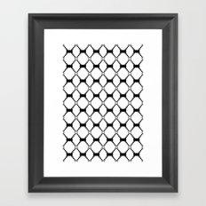 B&W pattern Framed Art Print