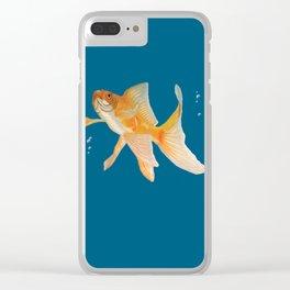 Fish & Bubbles Clear iPhone Case