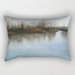Silent Morning Rectangular Pillow
