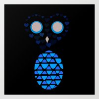 Owls Just Want to Have Fun No.4 Art Print