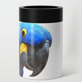 Blue Parrot Portrait Can Cooler