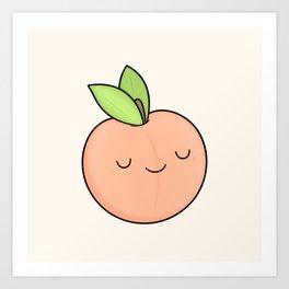 Happy Peach Art Print
