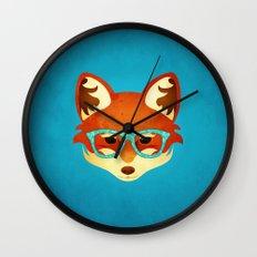 Hipster Fox: Azure Wall Clock
