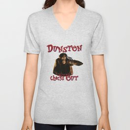 Dunston Checks OUt Unisex V-Neck