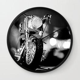 Motorbike-B&W Wall Clock