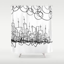 Living City Shower Curtain
