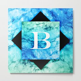 B - Monogram Vivids Metal Print