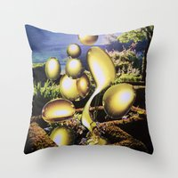 oil Throw Pillows featuring Oil by John Turck