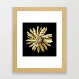 Dinged - yellow Framed Art Print